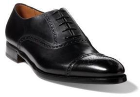 Ralph Lauren Denver Cap-Toe Shoe Black 9 D