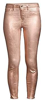L'Agence L'Agence Women's Margot Ankle-Length Skinny Metallic Jeans