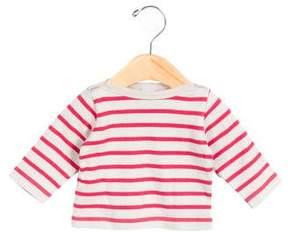 Petit Bateau Girls' Striped Long Sleeve Top