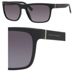 HUGO BOSS BOSS by Men's B0727s Wayfarer Sunglasses, Matte Black/Gray Gradient, 56 mm