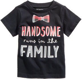 First Impressions Handsome-Print Cotton T-Shirt, Baby Boys (0-24 months), Created for Macy's