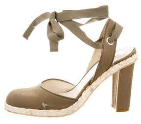 Marc by Marc Jacobs Rope-Accented Canvas Pumps