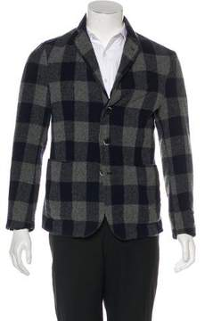 Barena Venezia Wool Plaid Notch-Lapel Cardigan