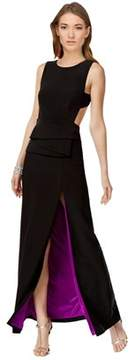 Betsy & Adam Backless Two-tone Jersey Dress.