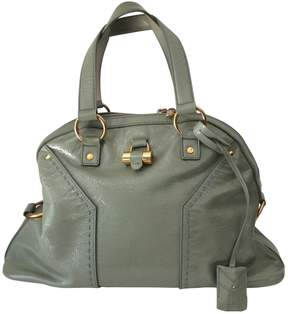 Saint Laurent Green Patent leather Handbag Muse - GREEN - STYLE