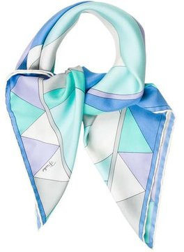 Emilio Pucci Silk Abstract Scarf