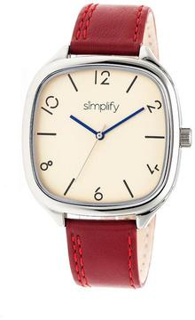 Simplify The 3500 Collection SIM3506 Square-Shaped Silver Analog Watch