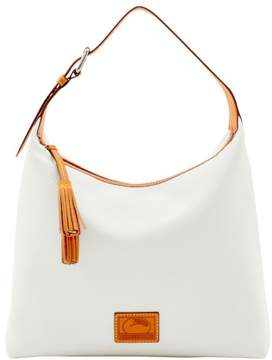 Dooney & Bourke Patterson Leather Large Paige Sac Shoulder Bag - WHITE - STYLE