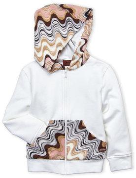Missoni Girls 7-16) Contrast Knit Paneled Hoodie