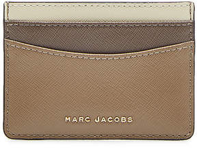Marc Jacobs Leather Card Holder - BEIGE - STYLE