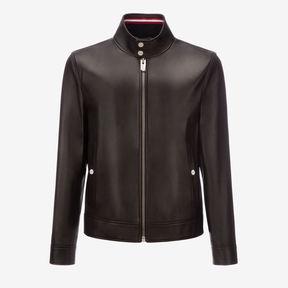 Bally Leather Café Racer Jacket
