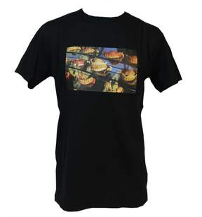 Soulland Black Grandpa Printed T-shirt
