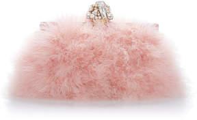 Dolce & Gabbana Crystal-Embellished Feather Clutch