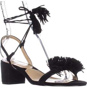 Adrienne Vittadini Alen Lace-up Dress Heeled Sandals, Black.