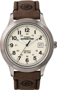 Timex Mens T49870CB Expedition Field Strap Watch One Size Brown/silver tone
