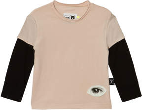 Nununu Powder Pink Tiny Eye Patch T-Shirt