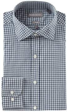 Michael Bastian Trim Fit Point Collar Checked Dress Shirt