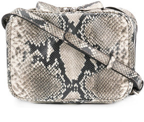 Robert Clergerie python skin effect crossbody bag