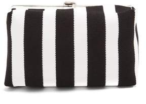 Proenza Schouler Asymmetric-frame striped clutch