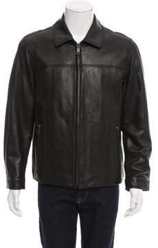 Andrew Marc Leather Zip-Front Jacket w/ Tags