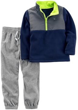 Carter's Toddler Boy 1/4-Zip Fleece Pullover Top & Pants Set