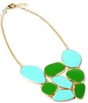 Amrita Singh Evergreen & Turquoise Grand Street Bib Necklace