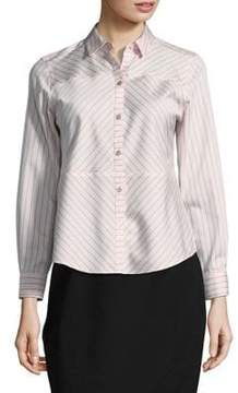 Foxcroft Point Collar Cotton Button-Down Shirt