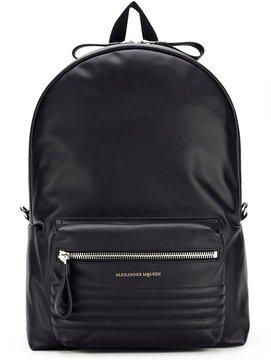 Alexander McQueen ribbed panel backpack