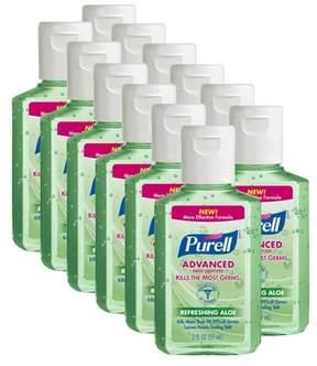 Purell Advanced Hand Sanitizer Refereshing Aloe - 2 fl oz (12 Pack)