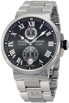Ulysse Nardin Marine Chronometer Black Dial Men's Watch 1183-126-7M-42