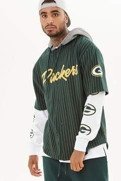 21men 21 MEN NFL Packers Hooded Fleece Shirt