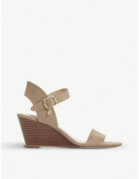 Dune Kendo leather wedge sandals