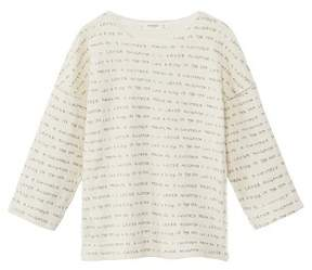 MANGO Organic cotton messages sweatshirt