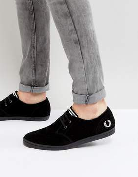 Fred Perry Byron Low Suede Sneakers in Black