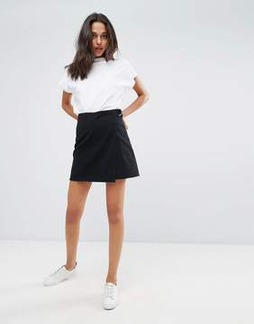 Dr. Denim Denim Skirt with Raw Hem