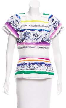 Camilla And Marc Printed Short Sleeve Top w/ Tags