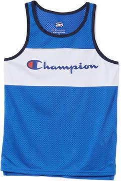Champion Team Blue Script Logo Tank - Boys