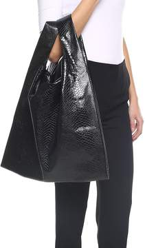 MM6 MAISON MARGIELA Snake-print Shiny-leather Tote Bag