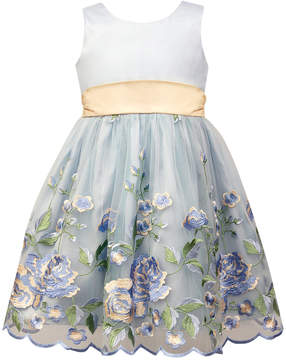 Jayne Copeland Satin Embroidered Dress, Little Girls