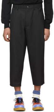 Comme des Garcons Black Gabardine Trousers
