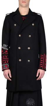 Amen Embroidered Wool Coat