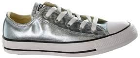 Converse Unisex Chuck Taylor All Star Ox Metallic Glacier/White/Black Basketball Shoe 4 Men US / 6 Women US