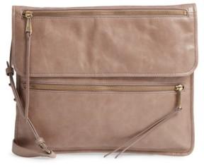 Hobo Vista Calfskin Leather Messenger Bag - Grey