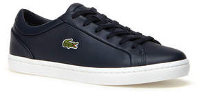 Lacoste Women's Straightset Lace Leather Sneakers