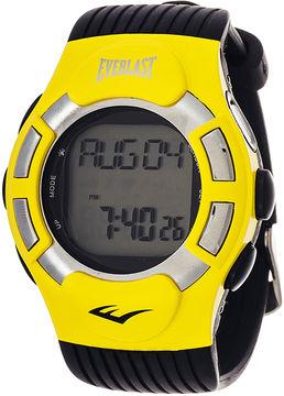 Everlast Mens Heart Rate Monitor Yellow Bezel Sport Watch