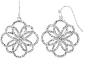 Chaps Open Flower Nickel Free Drop Earrings