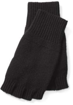 Ralph Lauren Cashmere Fingerless Gloves Black One Size