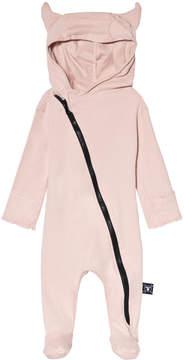 Nununu Powder Pink Viking Footed Jumpsuit