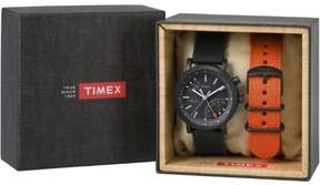 Timex Expedition Scout 40mm Leather Strap Watch Gift Set | TWG012600