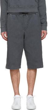 McQ Black Side Zip Shorts